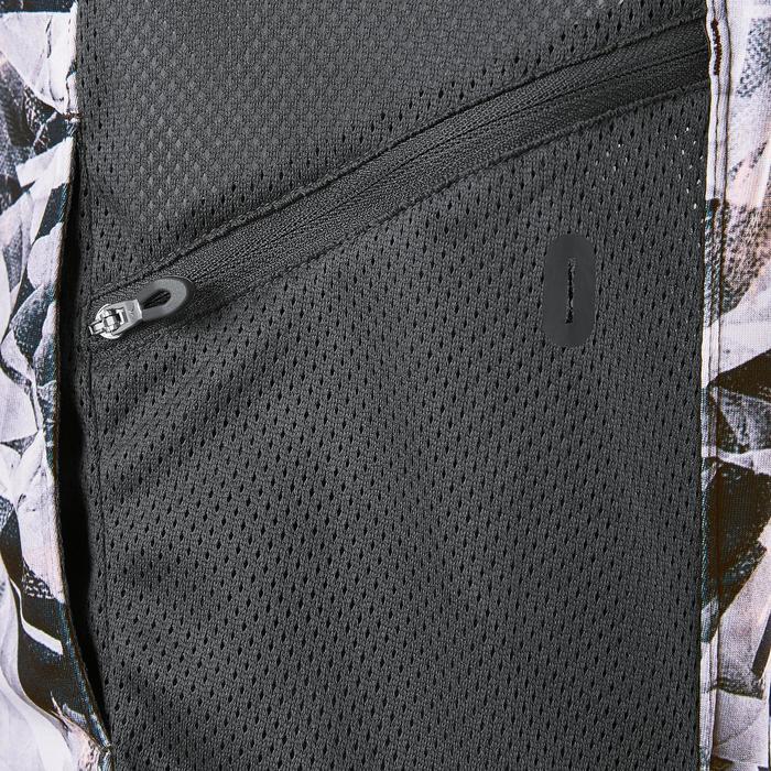 Warm ademend vest S900 meisjes GYM KINDEREN grijs AOP