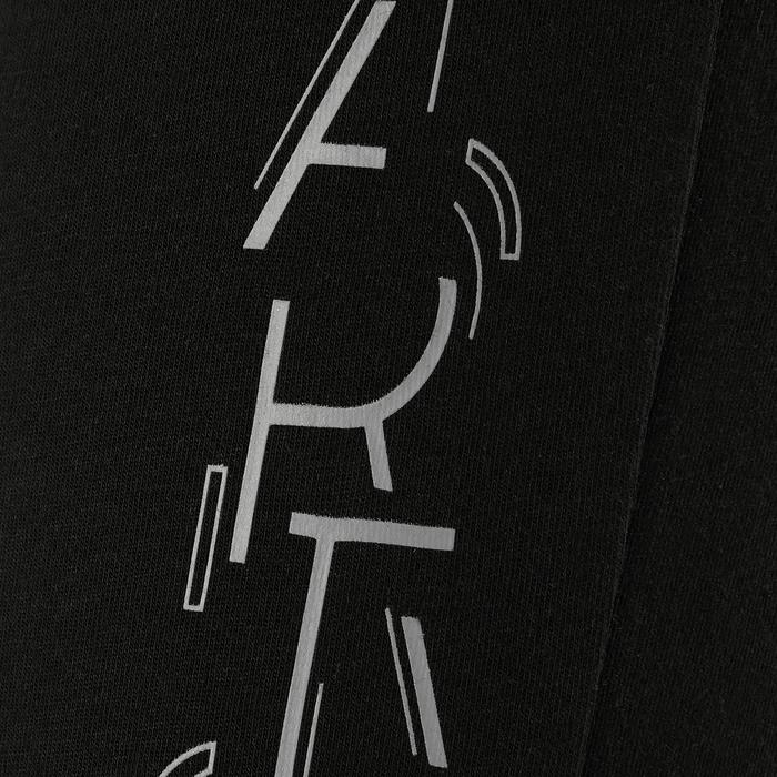 Pantalon coton respirant léger Slim 500 fille GYM ENFANT noir imprimé