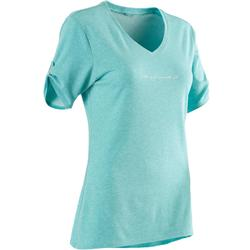 T-Shirt 510 Pilates Gym douce femme bleu printé