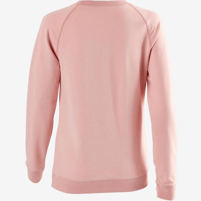 Sweatshirt 500 Pilates sanfte Gymnastik Damen rosa
