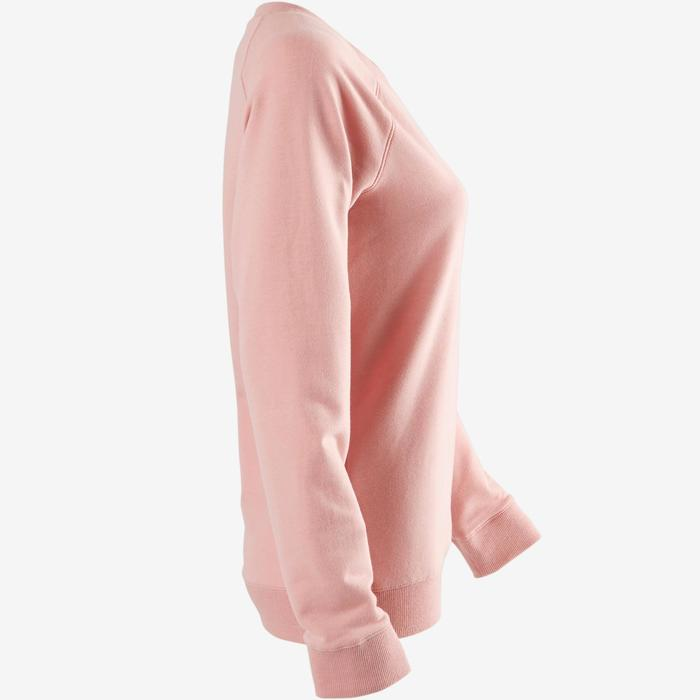 Damessweater voor pilates of lichte gym 500 roze