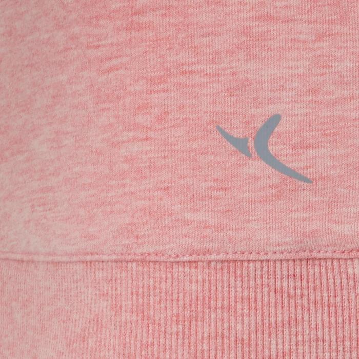 Sudadera 500 Pilates y Gimnasia suave mujer rosa estampado