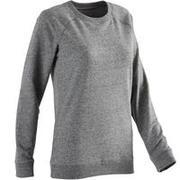Women's Gym Sweater 100 - Heathered Grey