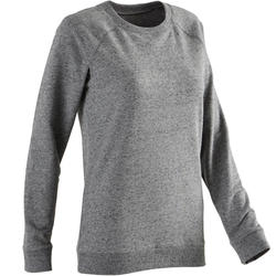 Women's Training Sweatshirt 100 - Heathered Grey