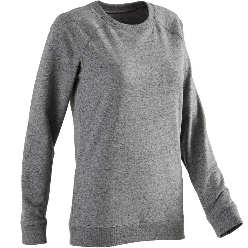 Women's Training Sweatshirt 100 - Heathered Grey