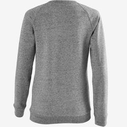 Sweatshirt 500 Pilates sanfte Gymnastik Damen dunkelgraumeliert