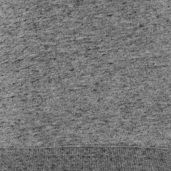 Sudadera 500 Pilates y Gimnasia suave mujer gris oscuro jaspeado