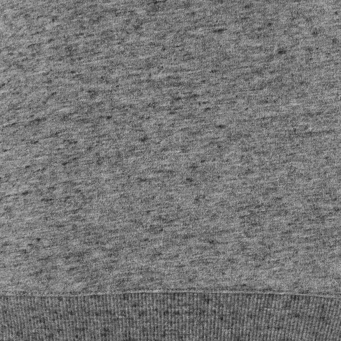 Sweater 500 pilates en lichte gym dames gemêleerd donkergrijs