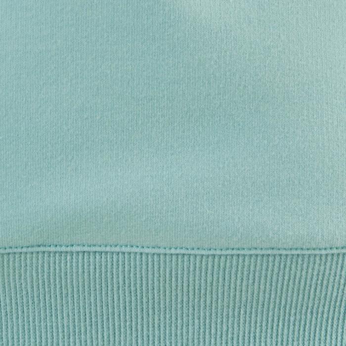 Sudadera De Chándal De Gimnasia Y Pilates Domyos 500 Mujer Azul Estampado