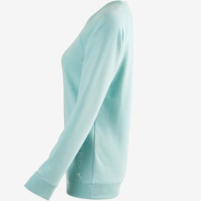 500 Women's Gentle Gym & Pilates Sweatshirt - Blue Print