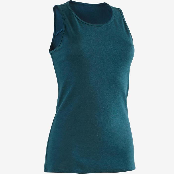 Débardeur 500 Pilates Gym douce femme turquoise