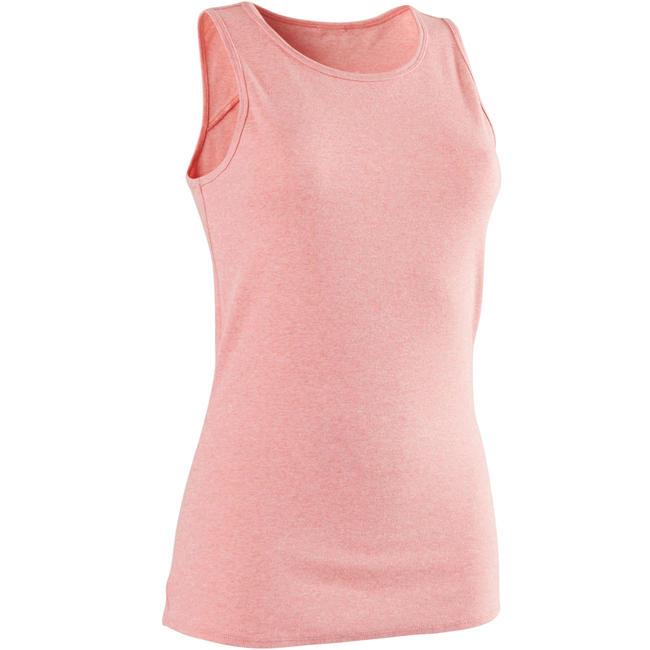 500 Women's Pilates & Gentle Tank Top - Mottled Pink