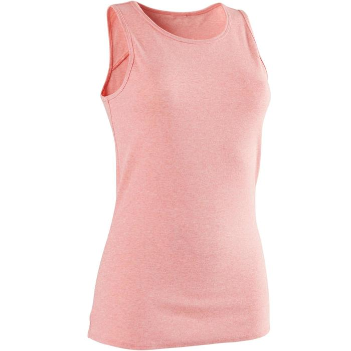 Tank-Top 500 Gym & Pilates Damen rosa meliert