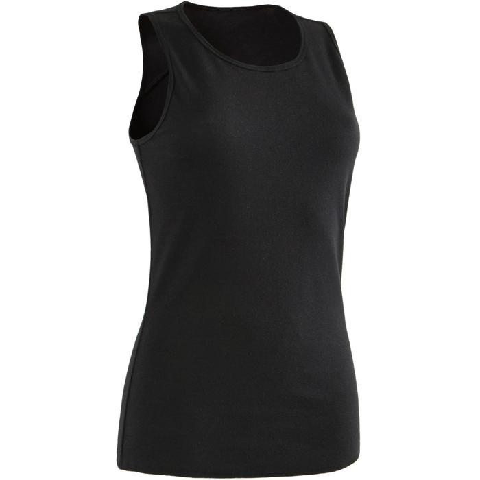 Débardeur 500 Pilates Gym douce femme noir