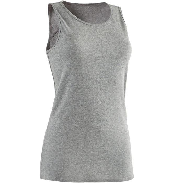 Tank-Top 500 Gym & Pilates Damen grau meliert