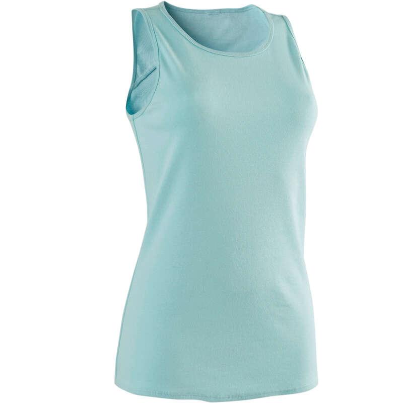 WOMAN T SHIRT LEGGING SHORT Pilates - 500 Gym Tank Top - Blue DOMYOS - Pilates Clothes