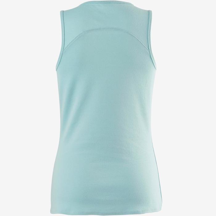 Débardeur 500 Pilates Gym douce femme bleu clair