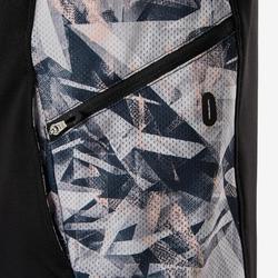 Trainingsjacke atmungsaktiv S900 Gym Kinder schwarz bedruckt