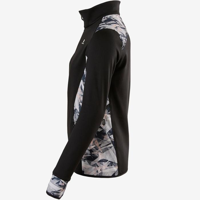 Warm ademend vest S900 meisjes GYM KINDEREN zwart met print