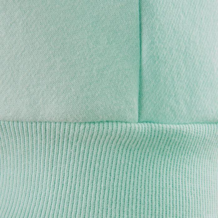 Sudadera Chándal Cremallera Capucha Gimnasia Domyos 100 Niña Verde/Azul Turquesa