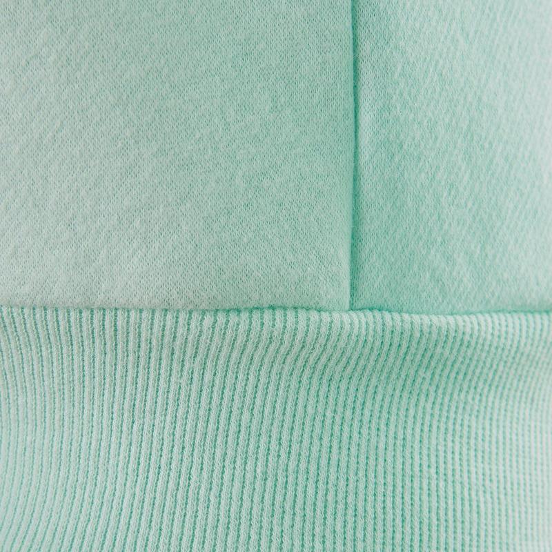 Veste capuche chaude 100 fille GYM ENFANT bleu imprimé