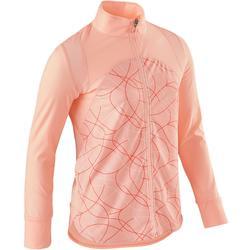 女童透氣輕盈健身外套S900 - 粉紅色