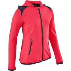 Kapuzenjacke warm atmungsaktiv S900 Gym Kinder rosa