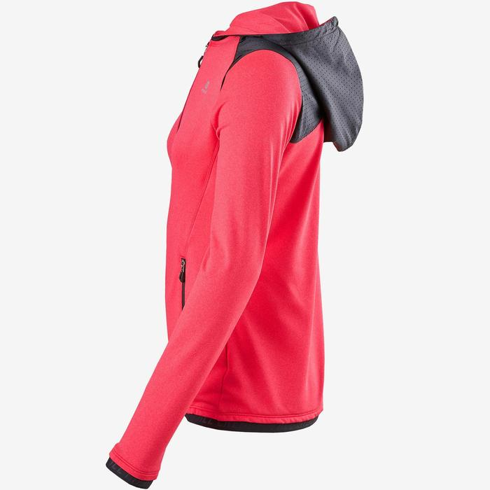 Warm ademend vest met capuchon S900 meisjes GYM KINDEREN roze
