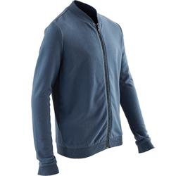 100 Boys' Gym Warm Jacket - Blue