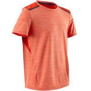 Camiseta sintética transpirable manga corta S500 niño GIMNASIA INFANTIL naranja