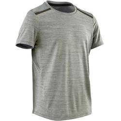 T-shirt met korte mouwen kunststof/ademend S500 jongens gym grijs