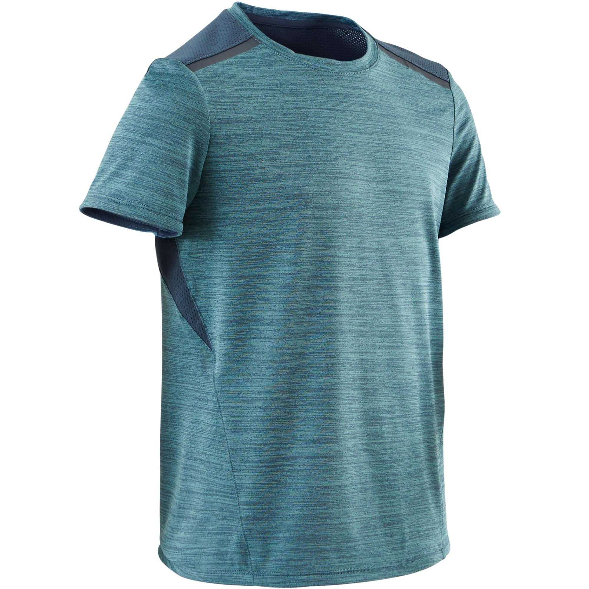 Domyos T-shirt korte mouwen synthetisch ademend S500 jongens GYM KINDEREN