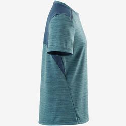 T-shirt korte mouwen synthetisch ademend S500 jongens GYM KINDEREN lichtblauw