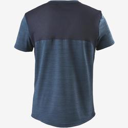 T-shirt synthetisch materiaal ademend S500 jongens GYM kinderen donkerblauw