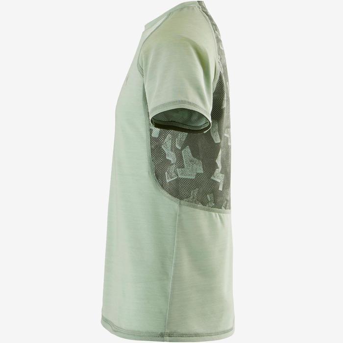 T-Shirt respirant manches courtes S900 garçon GYM ENFANT kaki clair