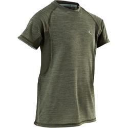 T-shirt korte mouwen ademend S900 jongens GYM KINDEREN kaki