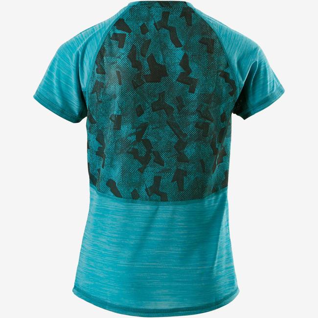 S900 Boys' Breathable Half-Sleeved Gym T-Shirt - Blue