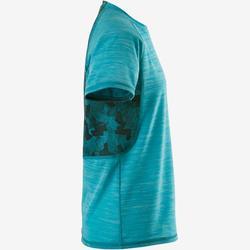 T-Shirt respirant manches courtes S900 garçon GYM ENFANT bleu