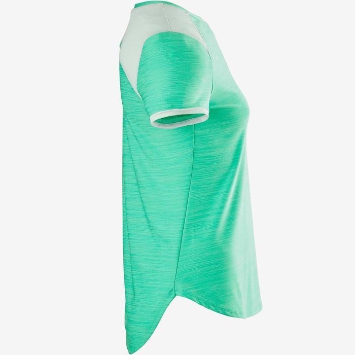T-Shirt Synthetik atmungsaktiv Kurzarm S500 Gym Kinder grün