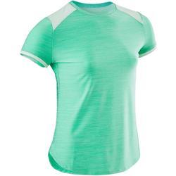 Gymshirt meisjes korte mouwen S500 groen