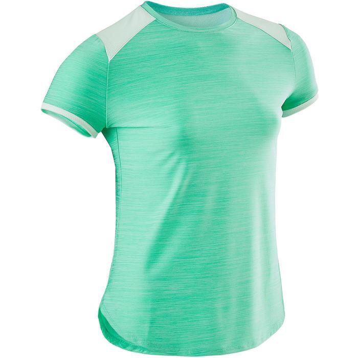 T-shirt korte mouwen synthetisch ademend S500 meisjes GYM KINDEREN groen