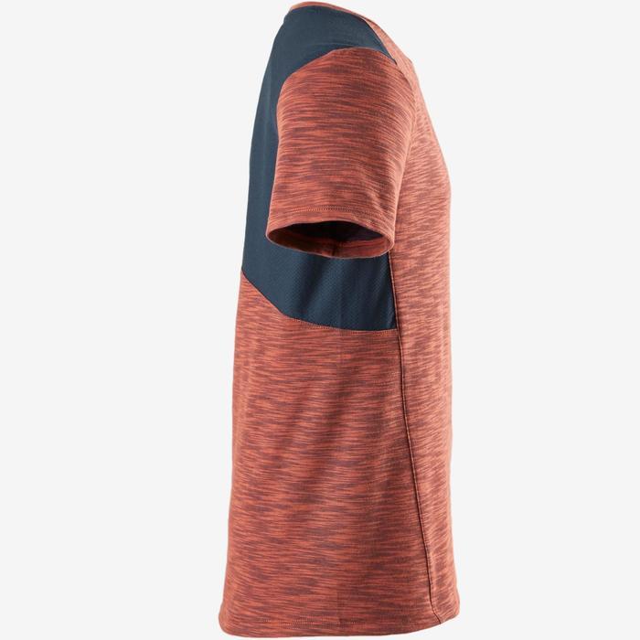 T-shirt korte mouwen ademend katoen 500 jongens GYM KINDEREN blauw oranje