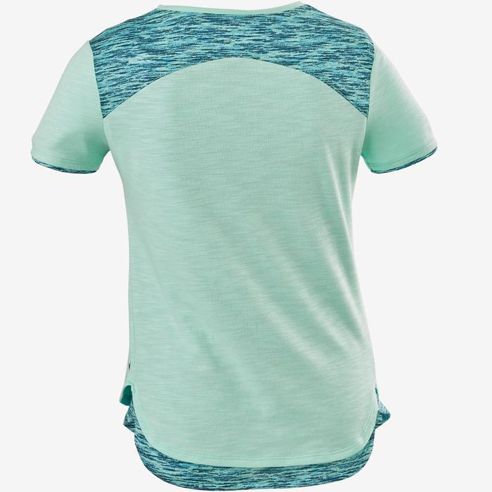 T-Shirt Gym 500 Kinder blau