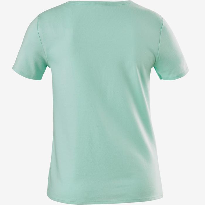 Camiseta de manga corta 100 niña GIMNASIA JÚNIOR verde estampado