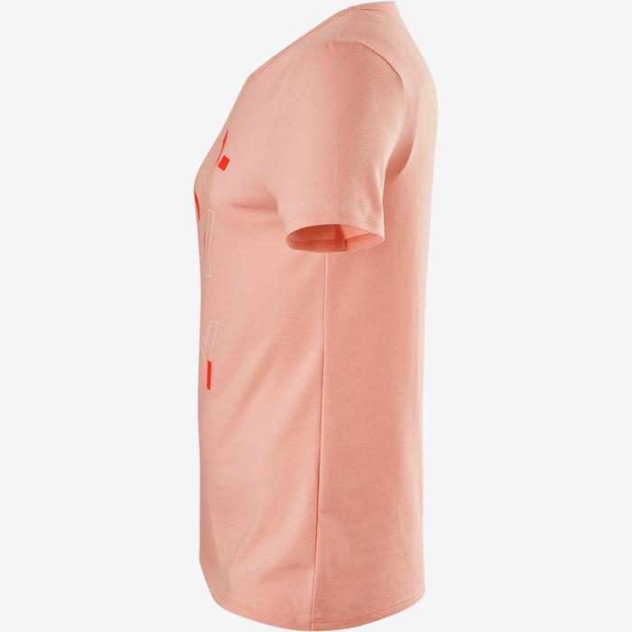 女童健身短袖T恤100 - 粉色印花