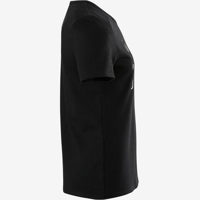 T-shirt korte mouwen 100 meisjes GYM KINDEREN zwart met print