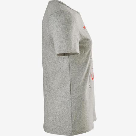 Спортивна футболка 100 для дівчат - Сіра з принтом