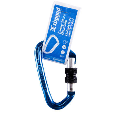 CLIMBING AND MOUNTAINEERING SCREWGATE KARABINER ROCKY BLUE