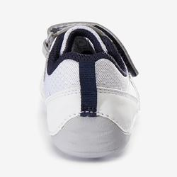 Schoentjes 510 I Learn First voor kleutergym wit marineblauw