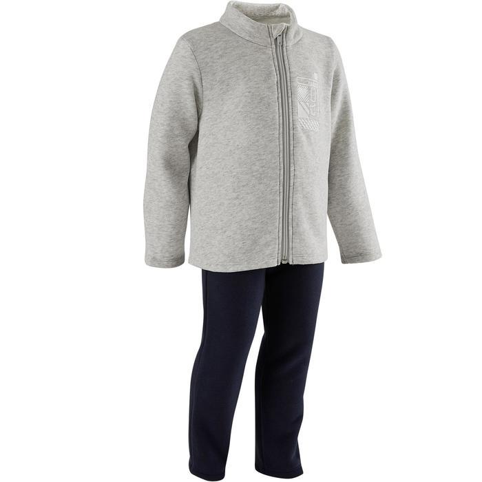 Trainingsanzug Warm'y Zip 100 Babyturnen grau